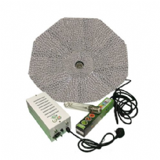 Pro Gear ( Horti Gear ) 600W With Parabolic Reflector ( Silver, 1000mm ) and Sunmaster Dual Spectrum HPS Lamp